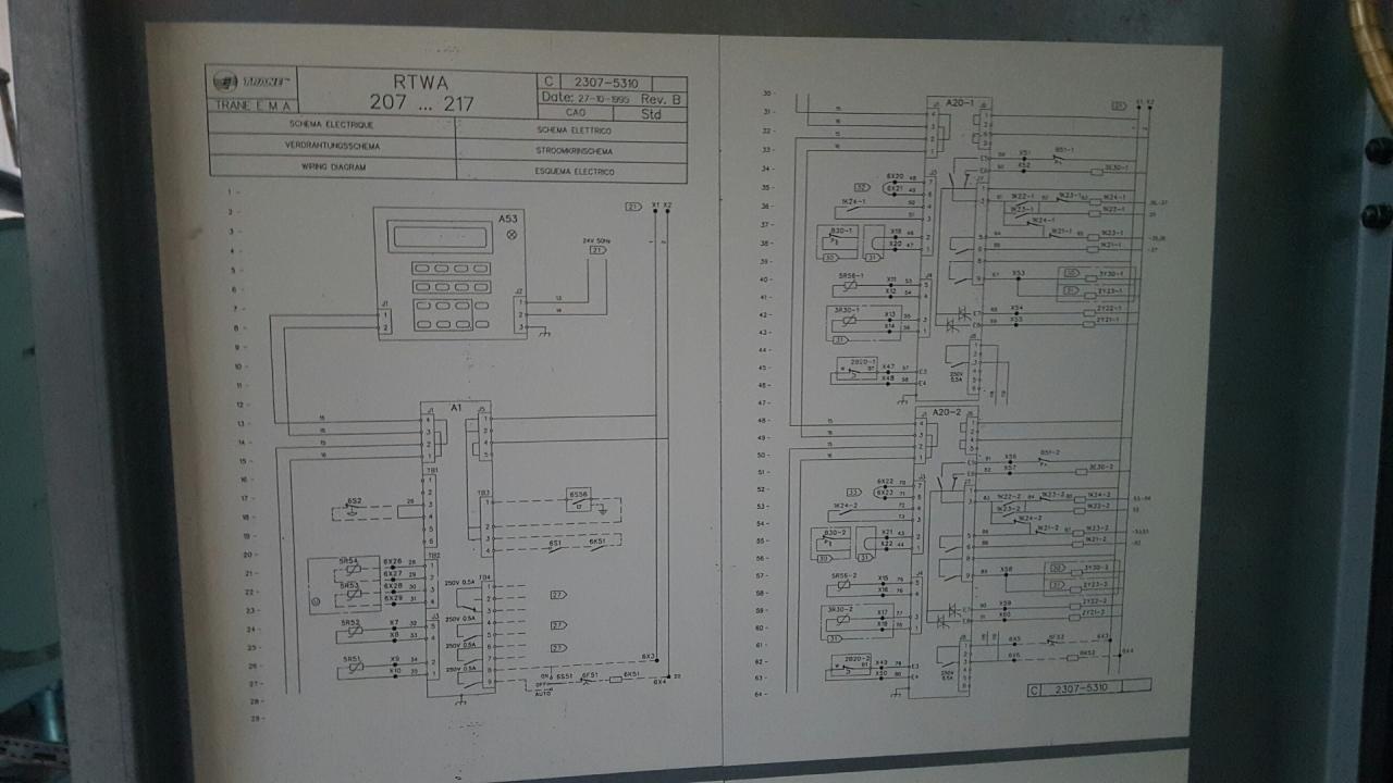 trane wiring diagrams 2307 5588